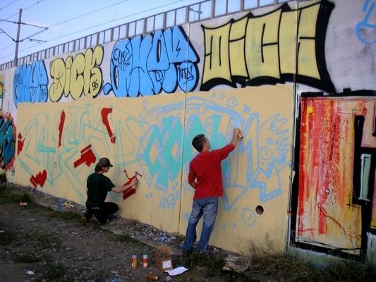 sprejování stěna