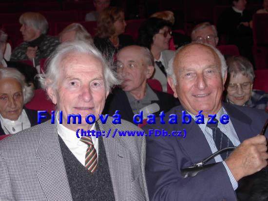 Josef Mixa a Otakar Brousek st. na vzpomínkovém večeru k příležitosti stého narození režiséra Karla Steklého