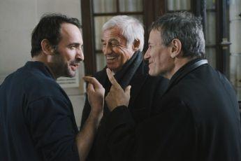 Jean Dujardin,  Jean-Paul Belmondo,  Francis Huster