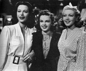 Hedy Lamarr, Judy Garland a Lana Turner