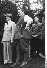 Adolf Hitler, Hermann Göring a  Baldur von Schirach
