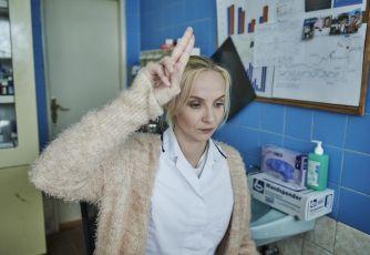 Jana Plodková jako zdravotní sestra v první linii