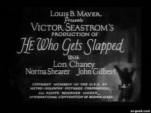 Ten, jehož políčkují (1924)