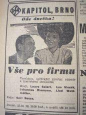 zdroj: Ústav filmu a audiovizuální kultury na Filozofické fakultě, Masarykova Univerzita, denní tisk z roku 1942