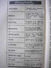 program ze dne 05.08.1938; zdroj: Ústav filmu a audiovizuální kultury na Filozofické fakultě, Masarykova Univerzita, Brno