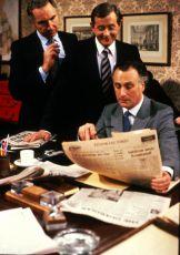 Nigel Hawthorne, Derek Fowlds a Paul Eddington