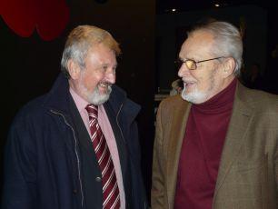 Jan Cimický a Vladimír Brabec na premiéře filmu Pamětnice