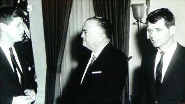 John F. Kennedy,  J. Edgar Hoover a  Robert F. Kennedy