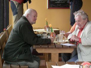 scéna z natáčení - 9.8.2011  Milan Riehs a Antonín Hardt