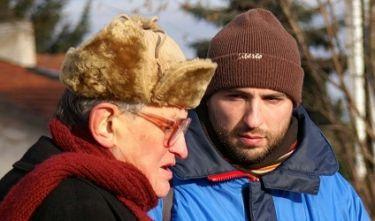 Dva režiséři, režisér natáčeného dokumentu Arkaitz Basterra Zalbide a  Vojtěch Jasný