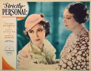 Strictly Personal (1933)