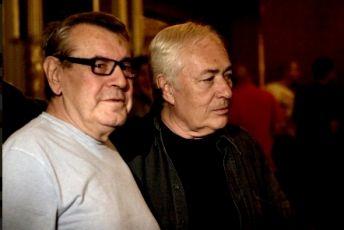 Miloš Forman a Libor Pešek