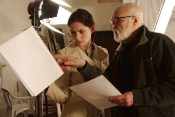 z natáčení Klára Issová a  Jan Švankmajer