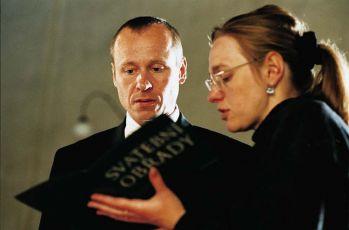 Karel Roden a režisérka Andrea Sedláčková
