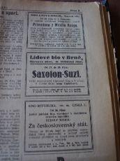zdroj: Ústav filmu a audiovizuální kultury na Filozofické fakultě, Masarykova Univerzita, denní tisk z 26.10.1928