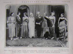 Poiret a jeho manekýny - propagační fotografie k filmu, zdroj: Elegantní Praha, 1923, č. 4