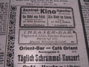 zdroj: Ústav filmu a audiovizuální kultury na Filozofické fakultě, Masarykova Univerzita, denní tisk z 07.10.1918