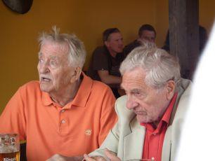 z natáčení - 9.8.2011   Oldřich Velen a Antonín Hardt