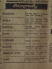 zdroj: Ústav filmu a audiovizuální kultury na Filozofické fakultě, Masarykova Univerzita, denní tisk z 10.11.1936