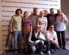 Herci s režisérem ve Varech 2012
