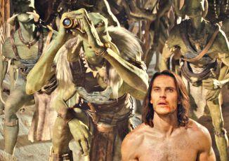 Taylor Kitsch jako John Carter a Tarks Tarkas jeddak zelených Tharků Willem Dafoe