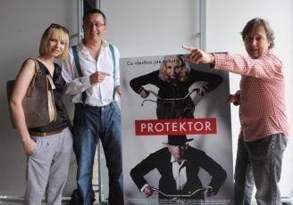 Jana Plodková, Marek Daniel a Aleš Najbrt prezentují film Protektor (2009)