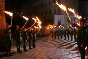 Natáčení na Pražském hradě - Pohřeb Heydricha