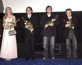 z premiéry filmu: Olga Lounová,  Tomáš Kobolka a Jiří Klenka