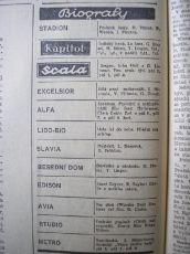zdroj: Ústav filmu a audiovizuální kultury na Filozofické fakultě, Masarykova Univerzita, denní tisk z 08.03.1938