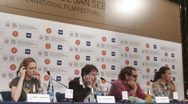 Marie-Josée Croze, Mathieu Amalric, Julian Schnabel a Olatz López Garmendia