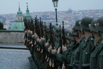 Natáčení na Pražském hradě - Nacistická četa na Hradčanech