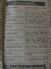 """Zdroj: Projekt """"Filmové Brno"""", Ústav filmu a audiovizuální kultury, Filozofická fakulta, Masarykova univerzita, Brno. Denní tisk z  27.03.1937. - http://www.phil.muni.cz/filmovebrno"""