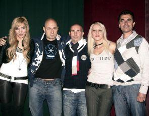 z tiskovky: Olga Lounová, Daniel Landa, Rudolf Hrušínský (4), Mirjam Landa, Roman Pomajbo