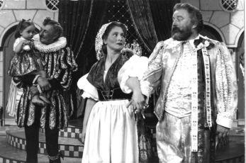 Vlasta Burian, Marie Glázrová a Jan Werich