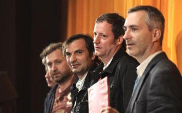 Úvodní slovo k filmu Nestyda: Jan Hřebejk, Jiří Macháček, Kryštof Mucha a Petr Vacek