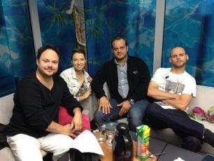 Martin Sobotka, Berenika Kohoutová a Roman Štabrňák a Vojtěch Záveský