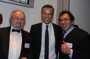 Patrik Pašš, Rupert Graves a Matej Mináč na premiéře v Londýně 2011