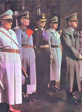 Hermann Göring, Wilhelm Keitel, Karl Dönitz, Heinrich Himmler, Adolf Hitler
