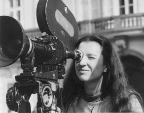 Irena Pavlásková při natáčení