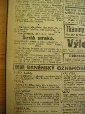"""Zdroj: Projekt """"Filmové Brno"""", Ústav filmu a audiovizuální kultury, Filozofická fakulta, Masarykova univerzita, Brno. Denní tisk z 01.04.1921. - http://www.phil.muni.cz/filmovebrno"""