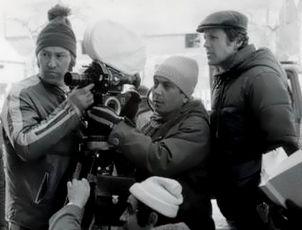 Viktor Růžička,  Jaroslav Soukup a asistent kamery
