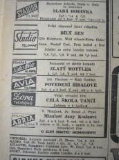 zdroj: Ústav filmu a audiovizuální kultury na Filozofické fakultě, Masarykova Univerzita, denní tisk z 18.02.1944