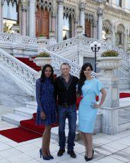 Naomie Harris, Daniel Craig & Bérénice Marlohe na tiskové konferenci v Istanbulu