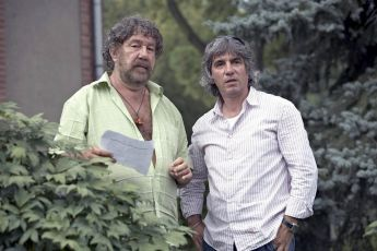 Režisér  Zdeněk Troška a kameraman Asen Šopov