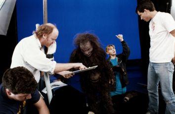 Ron Howard při natáčení trikové scény