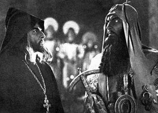 Ivan Hrozný: Andrej Abrikosov (bojar Kolyčev) a Nikolaj Čerkasov (car Iva)