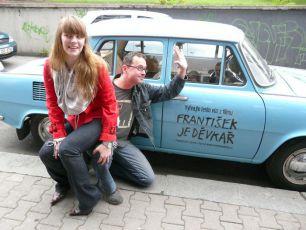 Josef Polášek a Petra Nesvačilová na novinářském promítání filmu