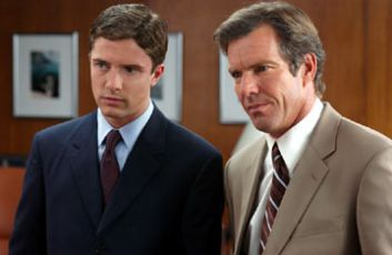 Topher Grace and Dennis Quaid