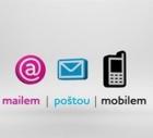 Mailem, poštou, mobilem