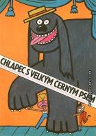 Chlapec s velkým černým psem (Der Junge mit dem großen schwarzen Hund)
